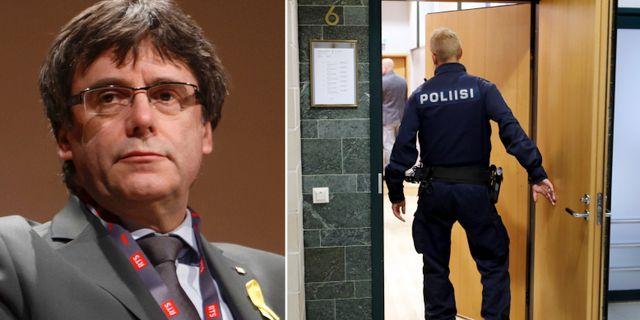 Puigdemont/finska polisen. TT