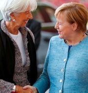 Christine Lagarde och Angela Merkel. Arkivbild. Hannibal Hanschke / TT NYHETSBYRÅN