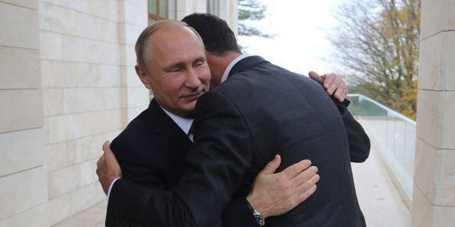 Arkivbild. Rysslands president Vladimir Putin med Syriens president Bashar al-Assad.  MIKHAIL KLIMENTYEV / SPUTNIK