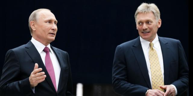 Putin och Peskov.  TT/AP
