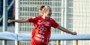 Karin Lundin firar ett av sina mål. JOHAN LÖF / BILDBYRÅN