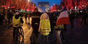 Bild från Paris på lördagen LUDOVIC MARIN / AFP
