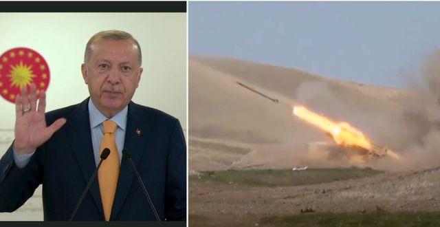 Erdogan, dagens stridigheter. TT