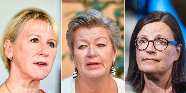 Margot Wallström, Ylva Johansson och Anna Ekström. TT