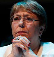 FN:s människorättschef Michelle Bachelet Marco Ugarte / TT NYHETSBYRÅN