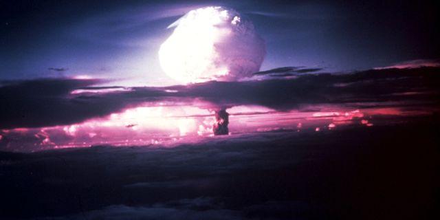 Bild från provsprängning 1952. TT