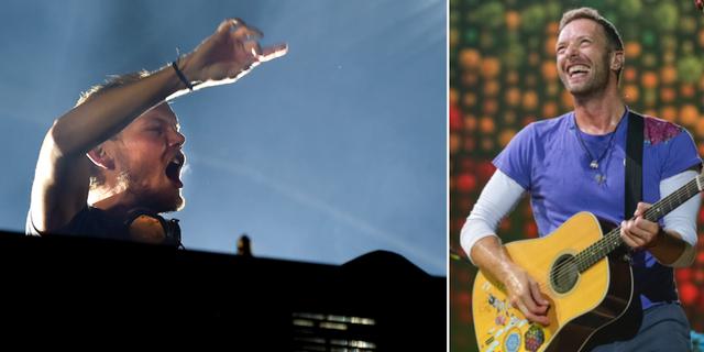 Avicii och Chris Martin TT