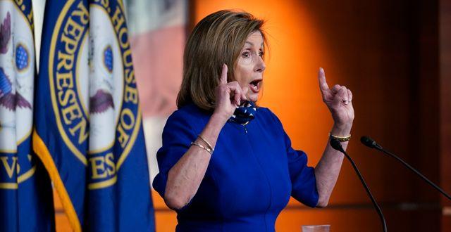 Representanthusets talesperson, Demokraternas Nancy Pelosi.  J. Scott Applewhite / TT NYHETSBYRÅN