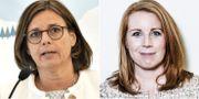 Isabella Lövin (MP) och Annie Lööf (C)  TT