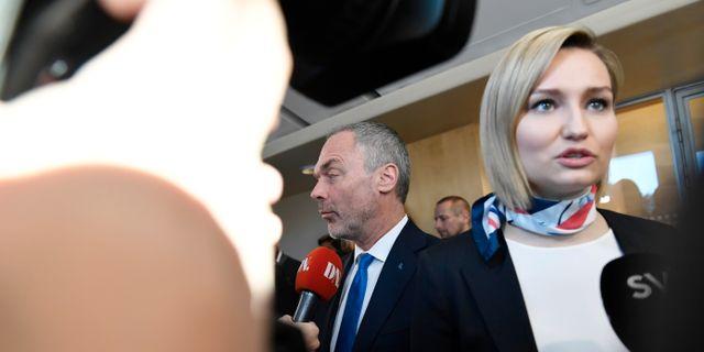 Jan Björklund och Ebba Busch Thor  Stina Stjernkvist/TT / TT NYHETSBYRÅN