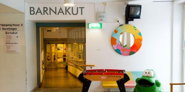Arkivbild: Väntrummet till barnakuten på Astrid Lindgrens Barnsjukhus i Solna HENRIK MONTGOMERY / TT / TT NYHETSBYRÅN