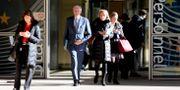 EU:s chefsförhandlare Michel Barnier (mitten) efter ett möte med ministrar i Bryssel. Virginia Mayo / TT NYHETSBYRÅN
