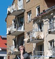 Det drabbade huset i Linköping. Jeppe Gustafsson/TT / TT NYHETSBYRÅN