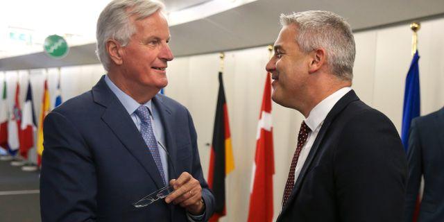 Barclay och Barnier. Francois Walschaerts / TT NYHETSBYRÅN/ NTB Scanpix