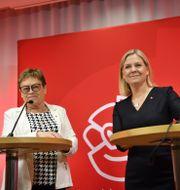 lvy Söderström, sammankallande i Socialdemokraternas valberedning, som nominerar Magdalena Andersson Jessica Gow /TT / TT NYHETSBYRÅN