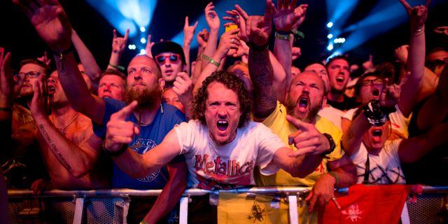 Publik under Metallicas konsert på Ullevi i Göteborg 2015. Björn Larsson Rosvall/TT / TT NYHETSBYRÅN