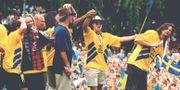 Firandet av svenska bronset, Rålambshovsparken.  Anders Wiklund/TT / TT NYHETSBYRÅN