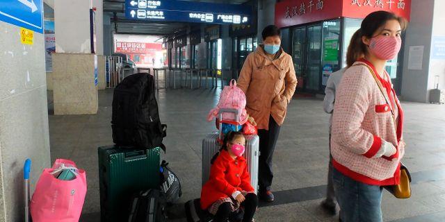 Kinesiska invånare i Yichan. TT NYHETSBYRÅN