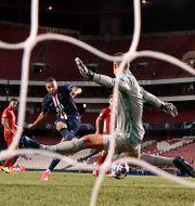Mbappés miss i Champions League-finalen. David Ramos / TT NYHETSBYRÅN