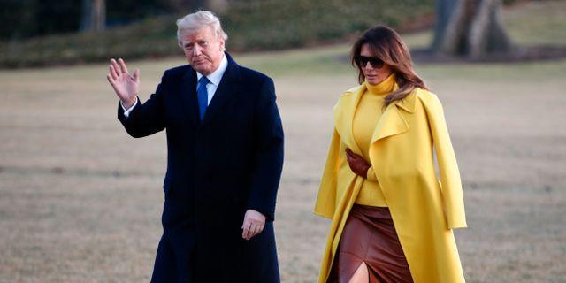 Donald och Melania Trump.  Carolyn Kaster / TT / NTB Scanpix