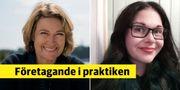 Till vänster: Amanda Undin, Customer clinic. Till höger: Caroline Danielsson, Brath.