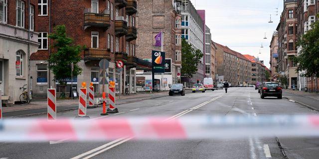 Avspärrning på platsen där explosionen inträffade. Philip Davali / TT NYHETSBYRÅN/ NTB Scanpix