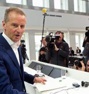 Volkswagens vd Hebert Diess FABIAN BIMMER / TT NYHETSBYRÅN