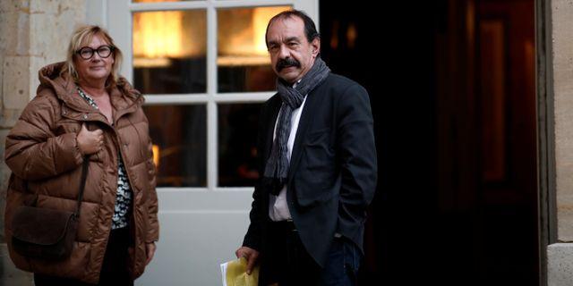 Martinez, till höger.  BENOIT TESSIER / TT NYHETSBYRÅN