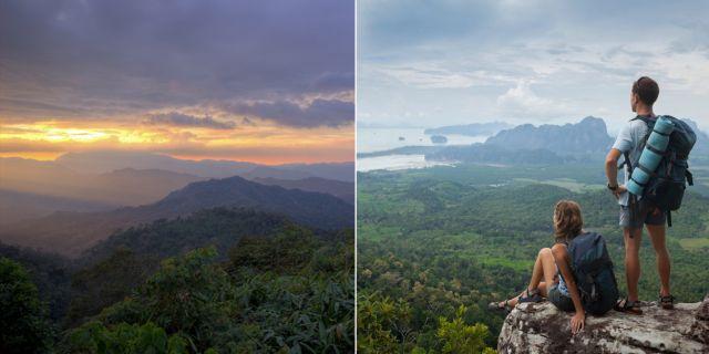 Thailands största regnskog Kaeng Krachan ligger bara tre timmars minibussresa från Bangkok och en timme från turistorten Hua hin. Thinkstock