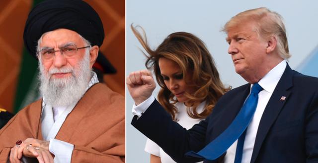 ayatolla Ali Khamenei/Donald och Melania Trump TT