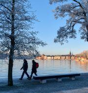 Stockholm i vinterskrud, fotograferat på och från Kastellholmen. Anders Wiklund/TT / TT NYHETSBYRÅN
