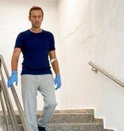 Putin, Navalnyjs egen bild från rehab. TT