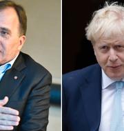 Stefan Löfven och Boris Johnson.  TT