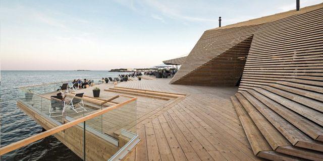 Nya bastun Löyly i Helsingfors har prisats för sin design. KUIVO