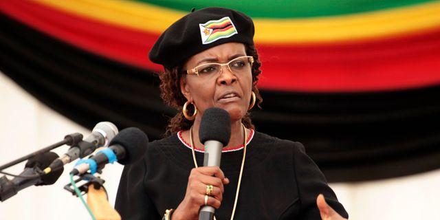 Grace Mugabe.  Tsvangirayi Mukwazhi / TT NYHETSBYRÅN