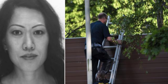 Lena Wesström / Poliser som arbetar oå brottsplatsen Polisen / TT