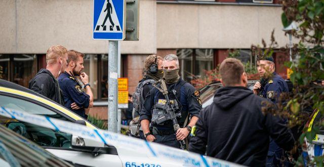 Från måndagens polisinsats TT / TT NYHETSBYRÅN