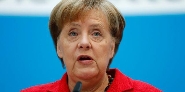 Tysklands förbundskansler Angela Merkel.  HANNIBAL HANSCHKE / TT NYHETSBYRÅN