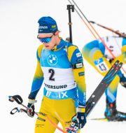 Sebastian Samuelsson ser besviken ut efter loppet. JOEL MARKLUND / BILDBYRÅN