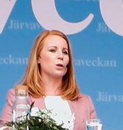 Annie Lööfs tal på onsdagen Christine Olsson/TT / TT NYHETSBYRÅN