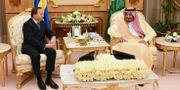 Arkivbild på när Stefan Löfven (S) år 2016 träffar Saudiarabiens kung Salman. Henrik Montgomery/TT / TT NYHETSBYRÅN