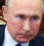 Putin, Erdogan, bild från Nagorno-Karabach. TT