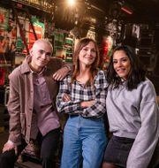Felix Sandman, Brita Zackari och Farah Abadi. Mattias Ahlm / Sveriges Radio