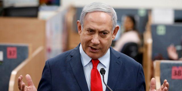Benjamin Netanyahu Amir Cohen / TT NYHETSBYRÅN