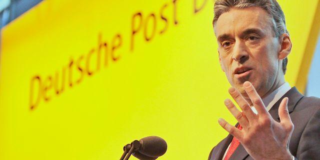 Arkivbild: Frank Appel, koncernchef för Deutsce Post DHL.  Frank Augstein / TT NYHETSBYRÅN