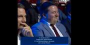 Skärmdump från lottningen. UEFA