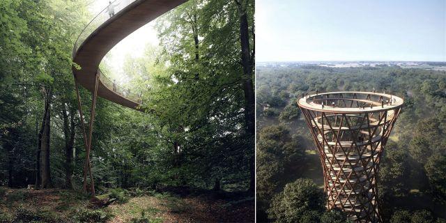 Liknande spiralformade trädtoppsvandringar finns i Tallinn och London. Pressbild