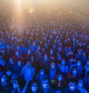 5000 personer var på plats. Emilio Morenatti / TT NYHETSBYRÅN
