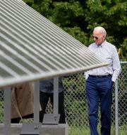 Joe Biden på en solcellspark under sin valturné 2019. Elise Amendola / TT NYHETSBYRÅN
