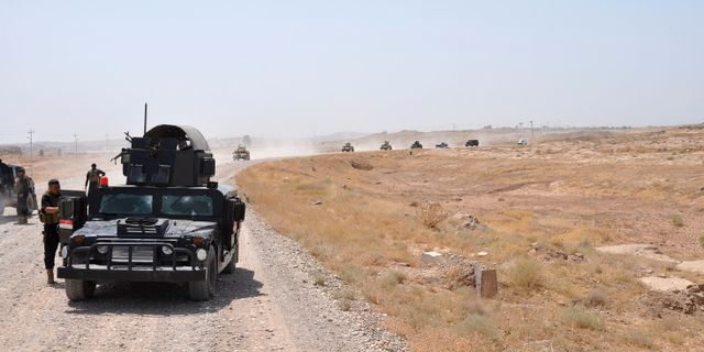 Arkivbild. Irakiska säkerhetsstyrkor i Hamrinbergen.  STRINGER/IRAQ / TT NYHETSBYRÅN